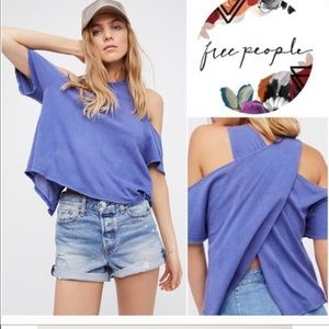 WE THE FREE Taurus Cold shoulder Wrap top